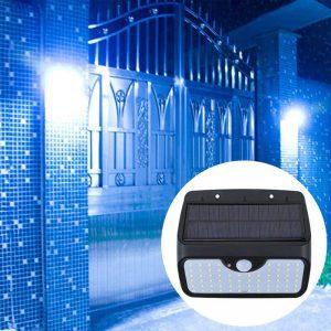 lampe d entree solaire avec detecteurs de mouvements puissante