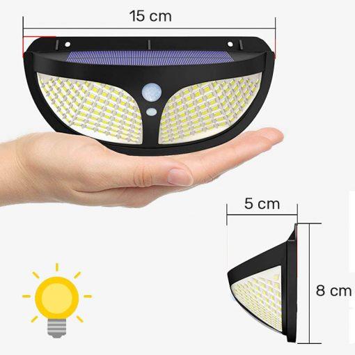 lampe exterieure autonome led a energie solaire puissante