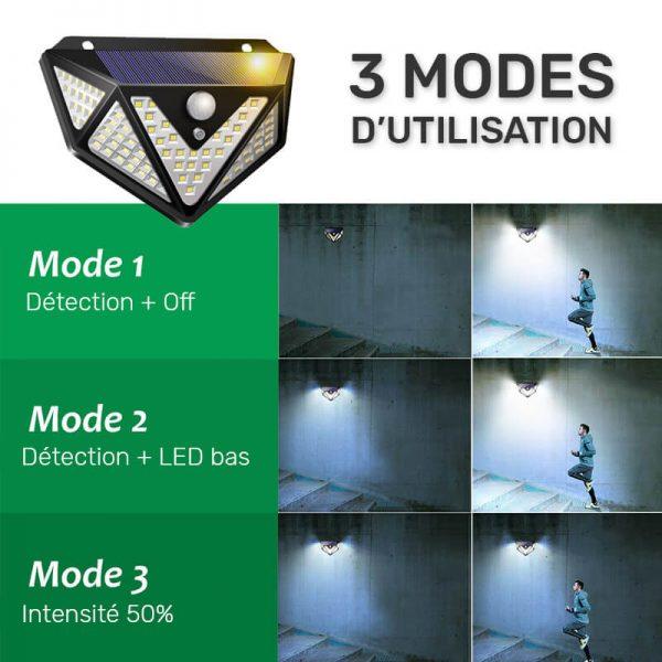 lampe led solaire pour terrasse detecteur de mouvement
