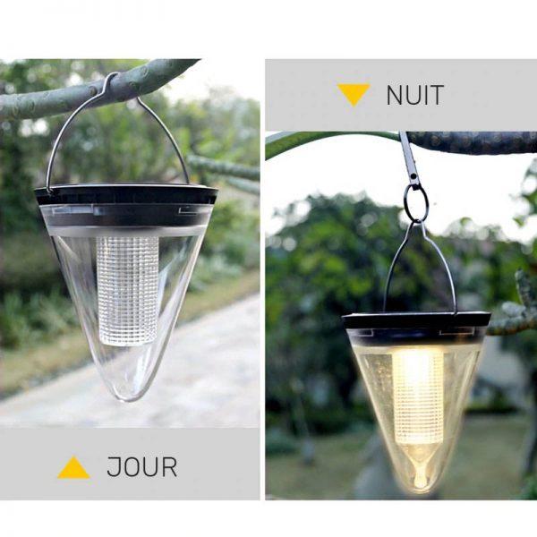 lampe solaire de jardin a suspendre exterieur