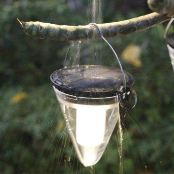 lampe solaire de jardin a suspendre led