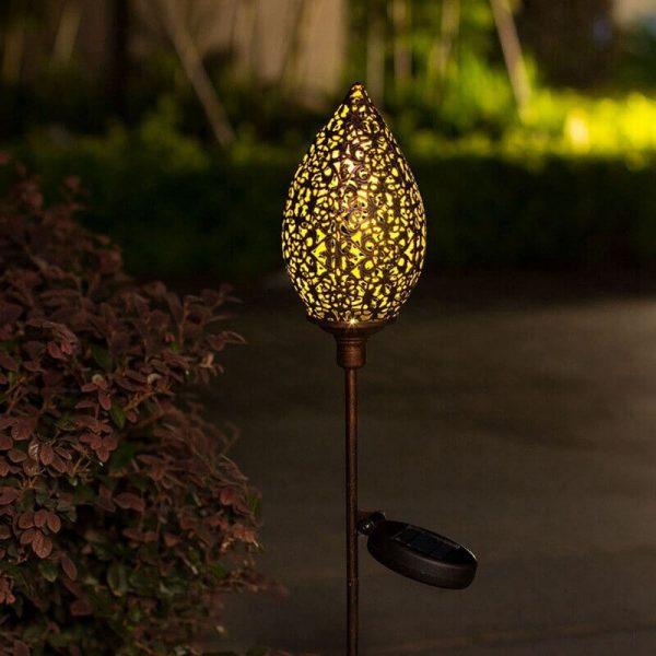 lampe solaire decoration a planter exterieur