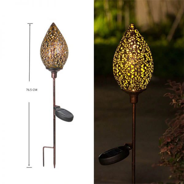 lampe solaire decoration a planter jardin
