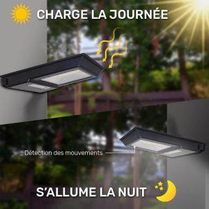 lampe solaire dextérieur avec détecteur de mouvement led