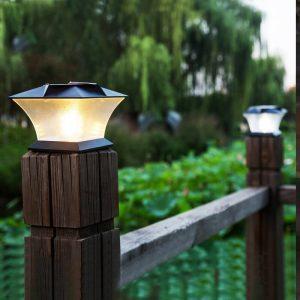 lampe solaire exterieur pour pilier de portail etanche