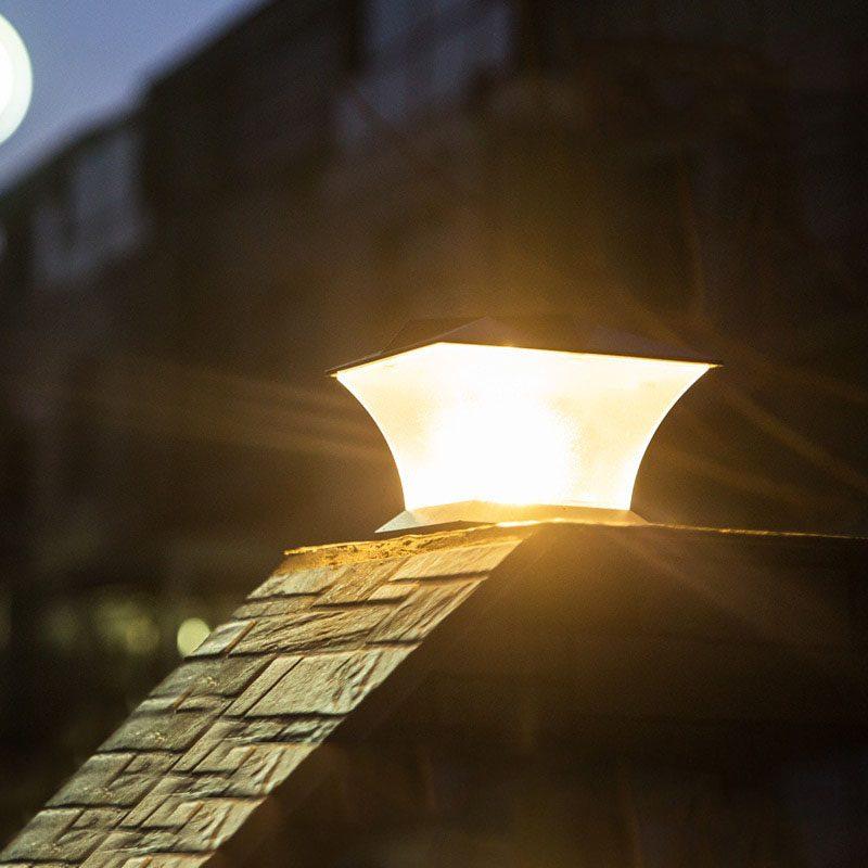 lampe solaire exterieur pour pilier de portail jardin