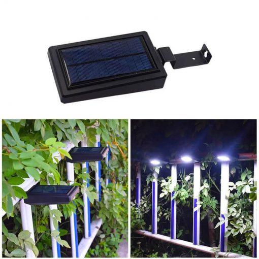 lampe solaire pour cloture jardin