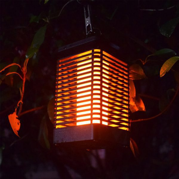 lanterne flamme solaire exterieur