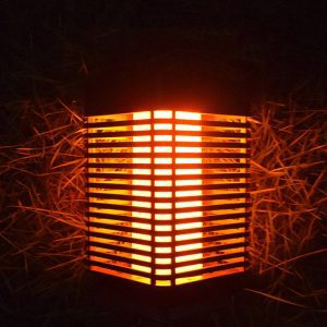 lanterne flamme solaire led
