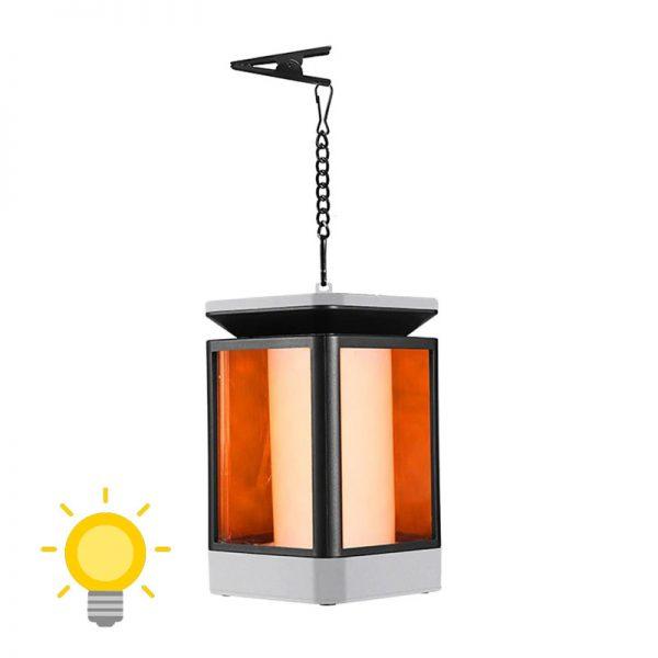 lanterne solaire avec flamme vacillante