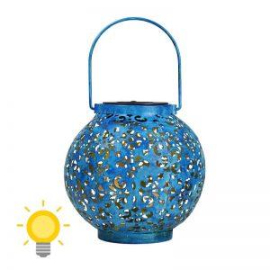 lanterne solaire bleue