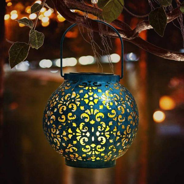 lanterne solaire bleue puissante