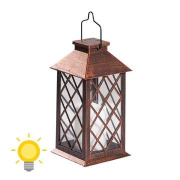 lanterne solaire bronze