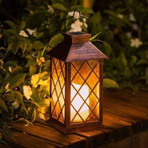 lanterne solaire bronze exterieur