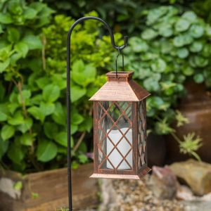 lanterne solaire bronze led
