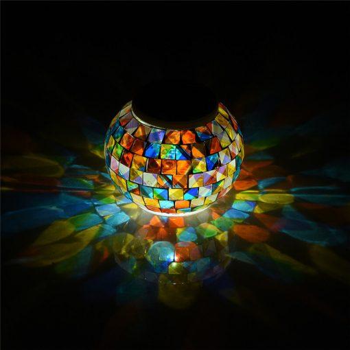 lanterne solaire mosaique exterieur