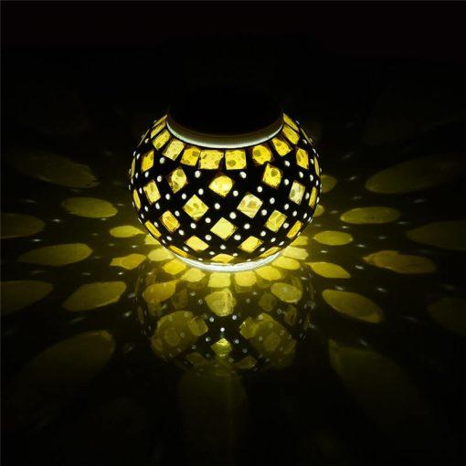 lanterne solaire mosaique led