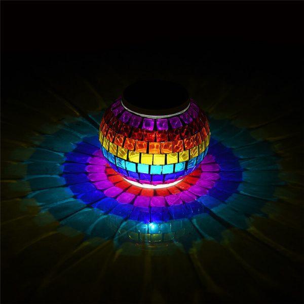 lanterne solaire mosaique sans fil