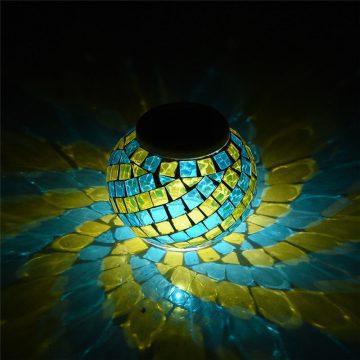 lanterne solaire mosaique terrasse