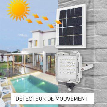 projecteur exterieur LED detecteur mouvement solaire jardin