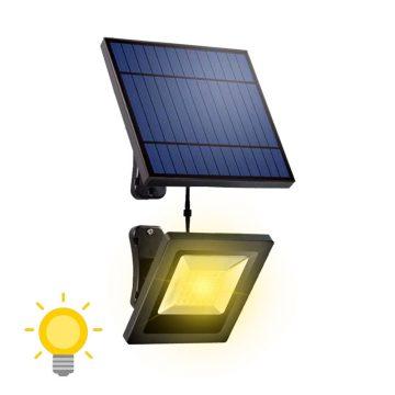 projecteur solaire blanc chaud