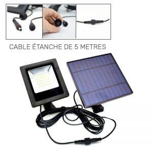 projecteur solaire blanc chaud LED