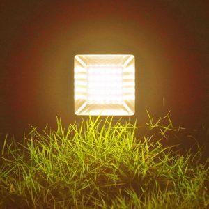 projecteur solaire blanc chaud PUISSANT