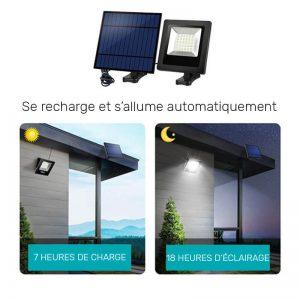 projecteur solaire blanc chaud exterieur