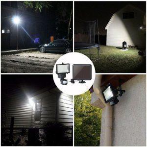 projecteur solaire exterieur led avec detecteur de mouvement etanche
