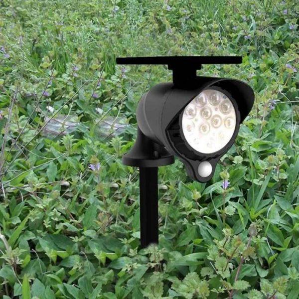 spot LED détecteur de mouvement solaire extérieur