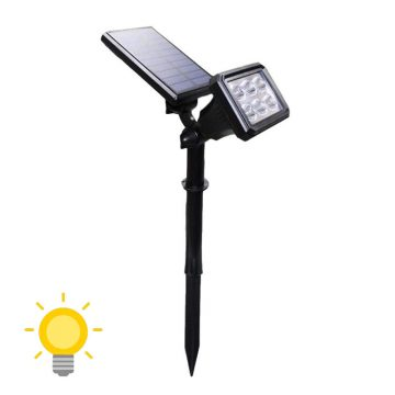 spot led panneau solaire