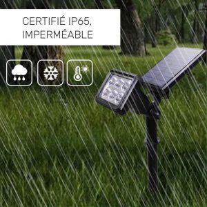 spot led panneau solaire puissant