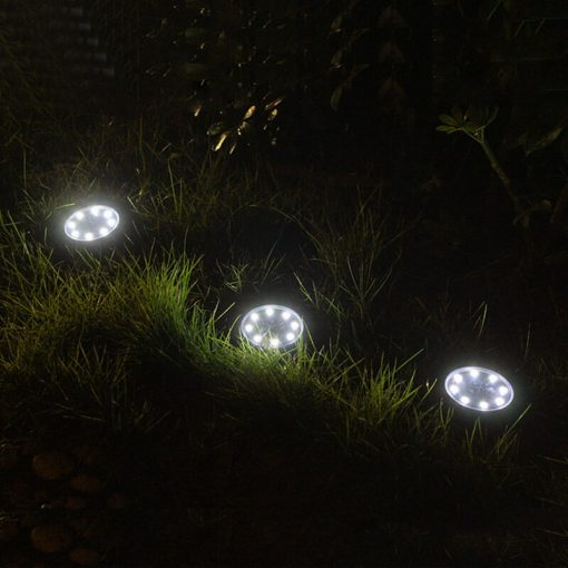 spot LED solaire encastrable extérieur pas cher