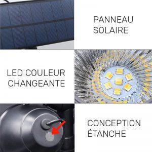 spot solaire avec detecteur de presence LED