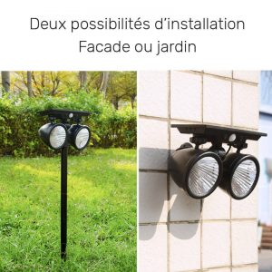 spot solaire avec detecteur de presence exterieur