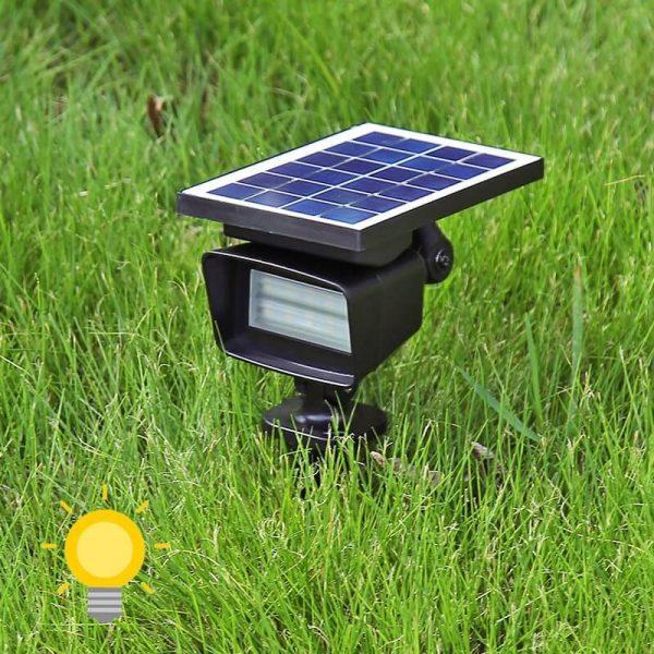 spot solaire blanc chaud exterieur