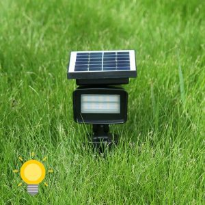 spot solaire blanc chaud jardin