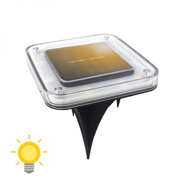 spot solaire encastrable carré