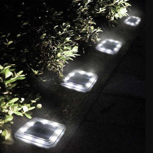 spot solaire encastrable carré exterieur