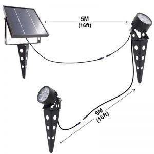 spot solaire exterieur puissant etanche