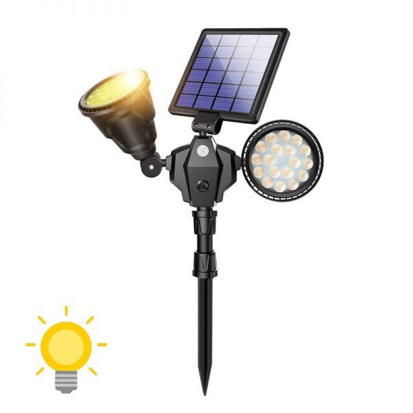 spot solaire led avec détecteur mouvement