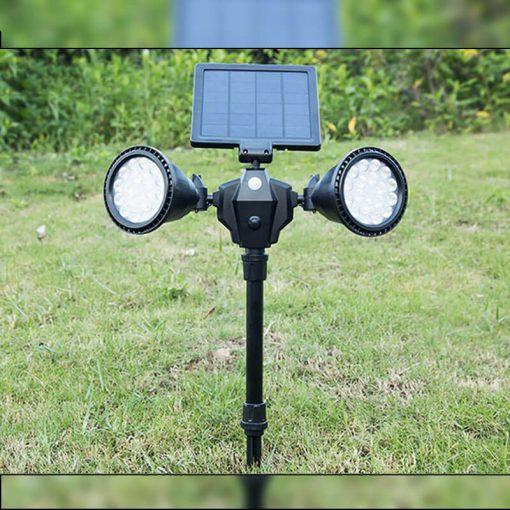 spot solaire led avec détecteur mouvement jardin