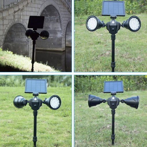 spot solaire led avec détecteur mouvement puissant