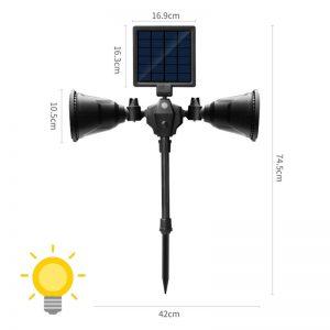 spot solaire led avec détecteur mouvement terrasse