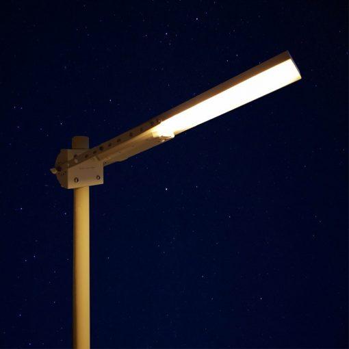 tete de lampadaire solaire exterieur