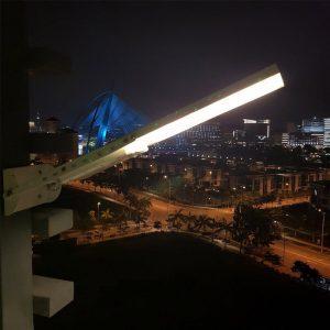 tete de lampadaire solaire led