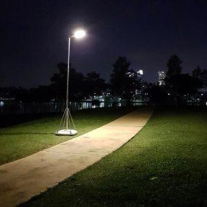 tete de lampadaire solaire puissant