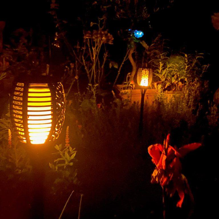 avis lampe solaire flamme