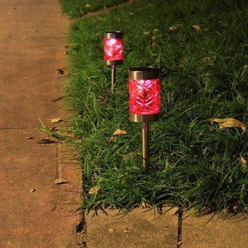 balises solaires de jardin couleur