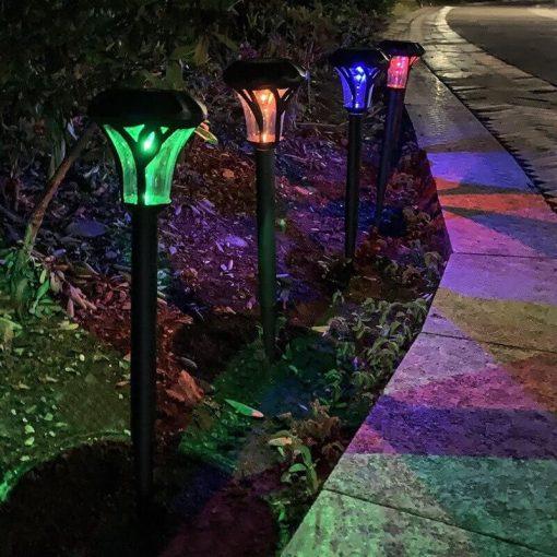 borne lumineuse exterieur solaire jardin